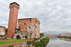 Guelfa Tower in Pisa Royalty Free Stock Photography
