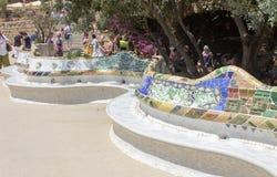 Guell公园巴塞罗那Catalunia西班牙 免版税库存图片