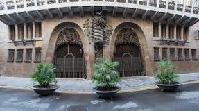 巴塞罗那guell宫殿西班牙 免版税库存图片