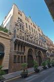 巴塞罗那guell宫殿西班牙 免版税图库摄影