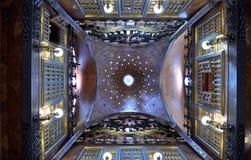 在帕劳Guell宫殿里面在巴塞罗那 库存照片