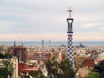 Guell del parque en Barcelona, España Foto de archivo libre de regalías