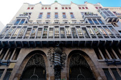Guell Palace Barcelona Spain Royalty Free Stock Photo