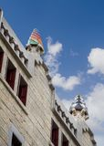 The Guell palace designed by Gaudi, in Barcelona royalty free stock images