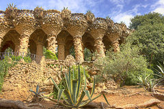 Guell park Royalty Free Stock Image