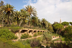 Guell park Royalty Free Stock Photo