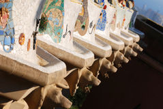 Guell park. Gaudi's creations in Park Guell, Barcelona royalty free stock image
