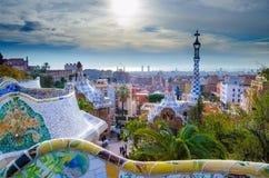 Guell Park in Barcelona Lizenzfreie Stockbilder