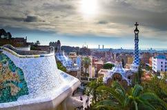 Guell Park in Barcelona Lizenzfreies Stockfoto