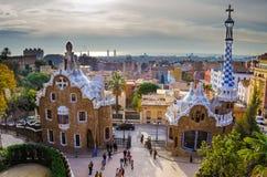 Guell Park in Barcelona Stockfotografie