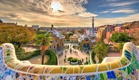Guell Park in Barcelona Stockbild