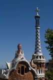 Guell park in Barcelona, Architecture by Gaudi Stock Photography