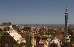 Guell park in Barcelona, Architecture by Gaudi Stock Photos