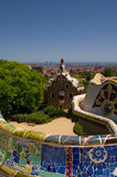 Guell park in Barcelona, Architecture by Gaudi Royalty Free Stock Photo
