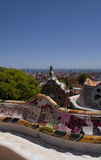 Guell park in Barcelona, Architecture by Gaudi Stock Photo