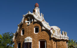 Guell park in Barcelona, Architecture by Gaudi Royalty Free Stock Photos