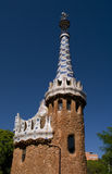 Guell park in Barcelona, Architecture by Gaudi Royalty Free Stock Image