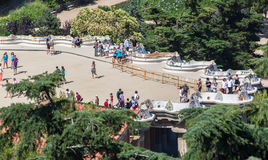 Guell Park Barcelona Catalunia Spain Stock Images