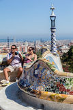 Guell Park Barcelona Catalunia Spain Royalty Free Stock Photography