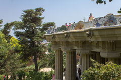 Guell Park Barcelona Catalunia Spain Royalty Free Stock Image
