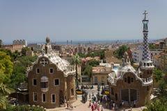 Guell Park Barcelona Catalunia Spain Stock Image