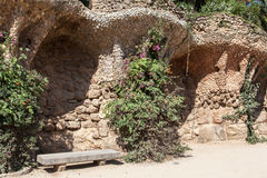 Guell Park Barcelona Catalunia Spanien Stockfotografie