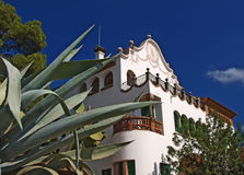 Guell park, Barcelona. Old house in the Guell park, Barcelona, Spain stock images