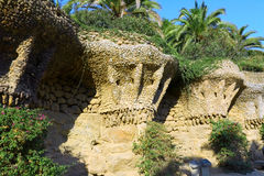 Guell Park, Barcelona, Spain. Stock Images