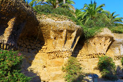 Guell Park, Barcelona, Spain. Stock Photos