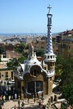 Guell park in Barcelona. Spain royalty free stock photo
