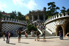 Guell park in Barcelona Stock Photos