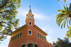 Guell Park in Barcelona, Spain Stock Images