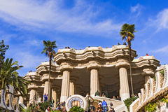 Guell Park in Barcelona, Spain Royalty Free Stock Image