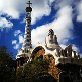 Guell Park. A day at Barcelona Royalty Free Stock Photos