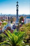 Guell parkerar, Barcelona Arkivbild