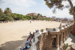 Guell Parkowy Barcelona Catalunia Hiszpania Obrazy Stock