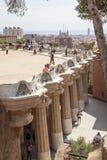 Guell Parkowy Barcelona Catalunia Hiszpania Zdjęcia Royalty Free