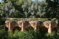 Guell'spark : acqueduc (Barcelone Espagne) photo stock