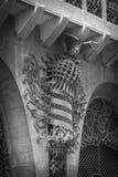Guell宫殿由Gaudi设计了,在巴塞罗那 库存照片