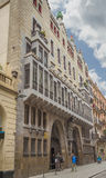 Guell宫殿由安东尼奥Gaudi设计了,在巴塞罗那,西班牙 免版税图库摄影