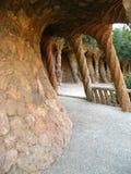 guellpark för 01 barcelona Arkivbild