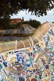 guellpark för 12 barcelona Arkivbild