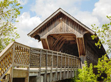 Guelph covered footbridge, Ontario, Canada. Guelph covered wooden footbridge, Ontario, Canada Stock Photography
