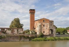 Guelph Tower and Medici Citadel in Pisa Stock Photo