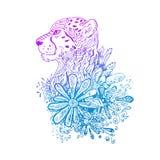 Guepardo coloreado gráfico del vector Fotografía de archivo libre de regalías