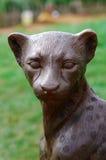 Guepardo de bronce Foto de archivo libre de regalías