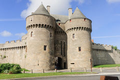 Guerande. A gate in the walls of Guerande, Loire-Atlantique, France Stock Photo