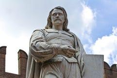 Guercino Marble Statue. Cento. Emilia-Romagna. Italy. Stock Photography