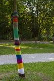 Guerilla knitting Royalty Free Stock Images
