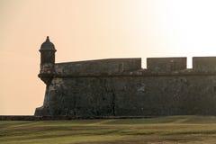 Guerite Del Morro de coucher du soleil Photo libre de droits